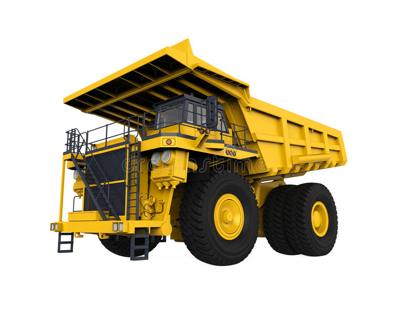 Gelber Bergbau-LKW stock abbildung