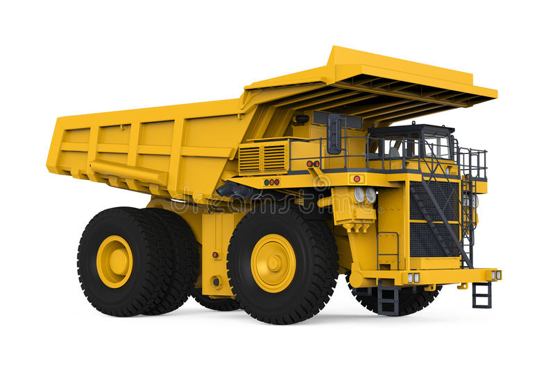 Gelber Bergbau-LKW lizenzfreie abbildung