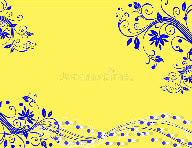 Gelber blauer abstrakter Hintergrund lizenzfreie abbildung