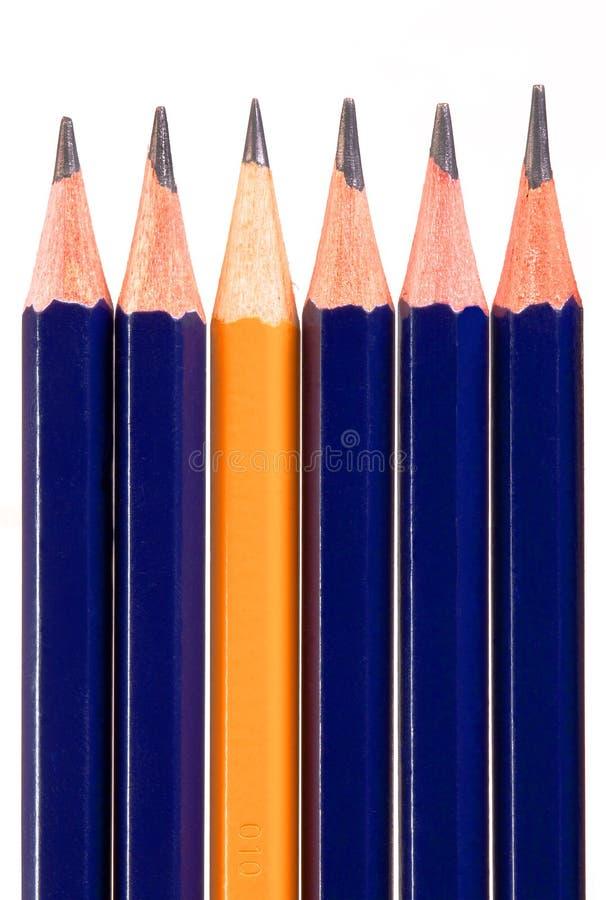 Gelber Bleistift lizenzfreie stockbilder