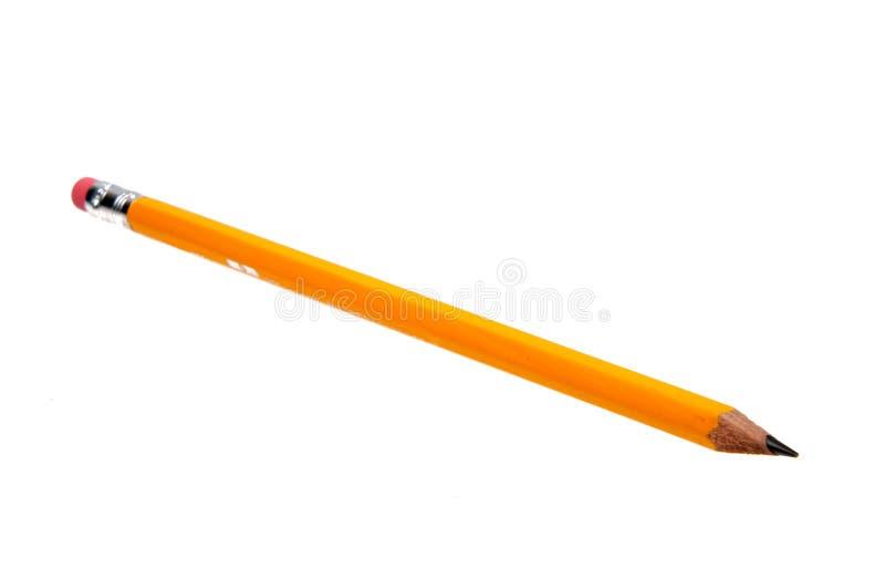 Gelber Bleistift lokalisiert lizenzfreie stockfotos