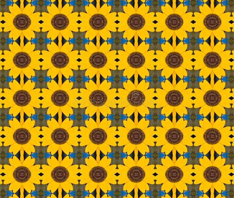 Gelber Blumenmetallhintergrund stockbild