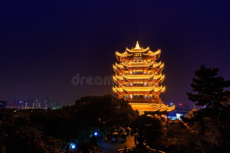 Gelber Crane Tower in Wuhan, China stockfoto