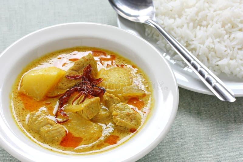 Gelber Curry, siamesische Nahrung lizenzfreie stockfotografie