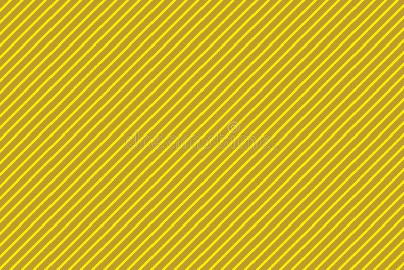 Gelber diagonal gestreifter Hintergrund Illustrationsdesign lizenzfreie stockfotos