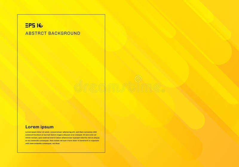 Gelber geometrischer Hintergrund der Zusammenfassung und dynamische flüssige Bewegung formt Zusammensetzung stock abbildung