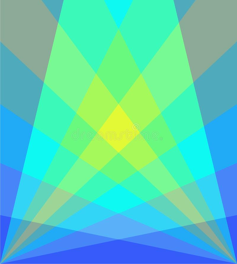 Gelber grün-blauer Hintergrund lizenzfreie stockfotos
