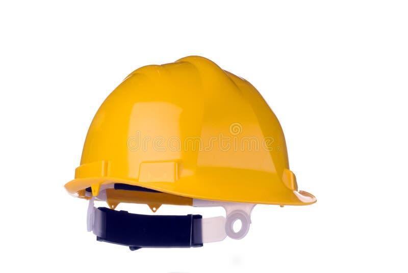 Gelber harter Hut (getrennt) lizenzfreie stockfotos