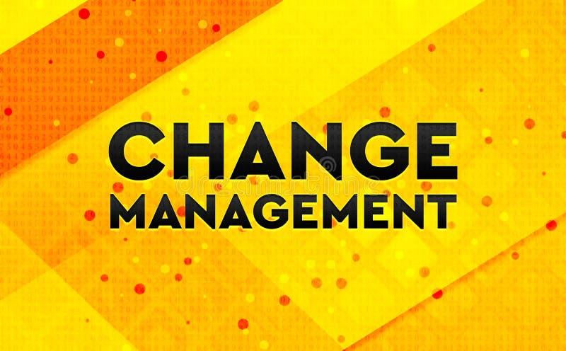 Gelber Hintergrund der digitalen Fahne der Änderungs-Managementzusammenfassung vektor abbildung