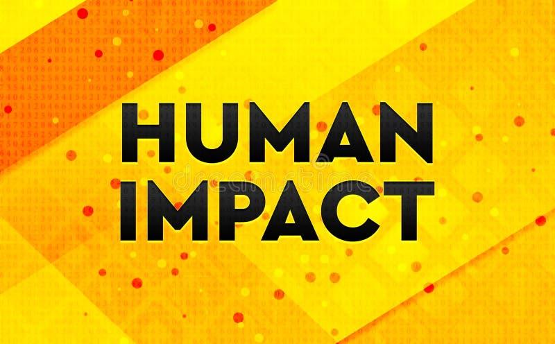 Gelber Hintergrund der menschlichen Fahne der Auswirkung abstrakten digitalen vektor abbildung