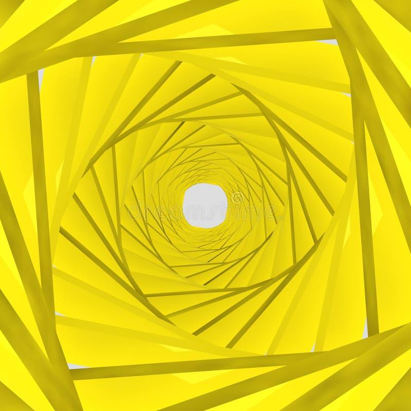 Gelber Hintergrund des Hintergrundes 3d lizenzfreie abbildung