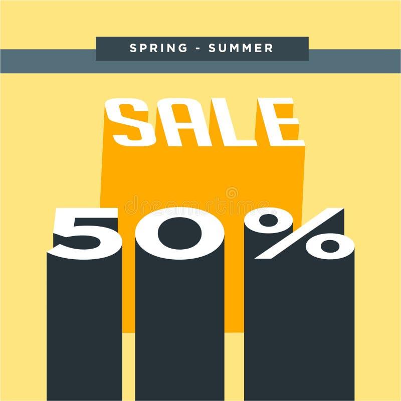 Gelber Hintergrund Verkaufsfahnen-Schablonendesign Sonderangebot des gro?en Verkaufs Sonderangebotfahne für Plakat, Flieger, Bros lizenzfreie abbildung