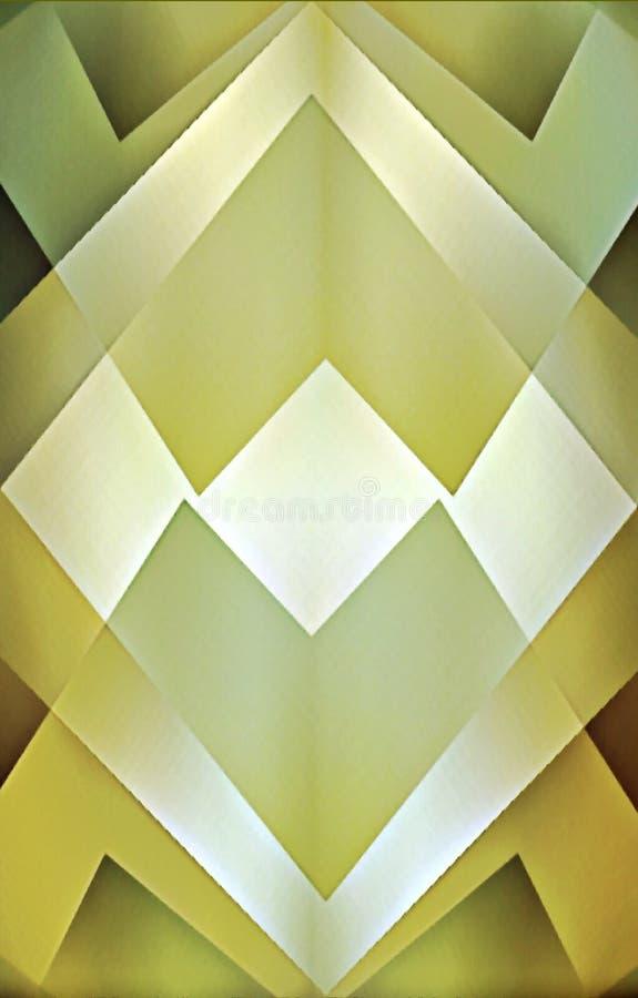 Gelber Hintergrund von geometrischen Formen vektor abbildung