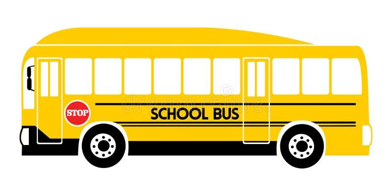 Gelber Illustrationsvektor des Schulbusses lizenzfreie abbildung