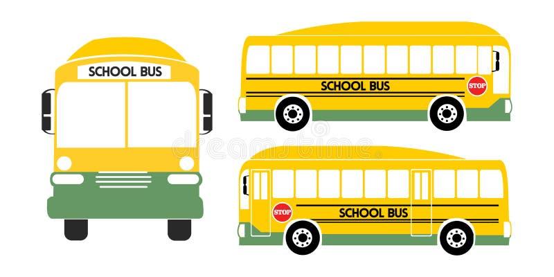 Gelber Illustrationsvektor des Schulbusses stock abbildung