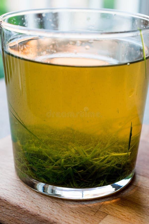 Gelber Kräutersaft für Detox stockbilder