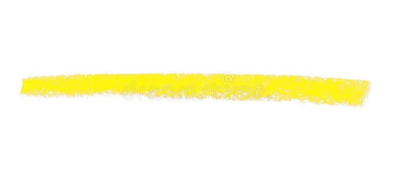 Gelber Kreidestreifen lizenzfreie stockfotografie