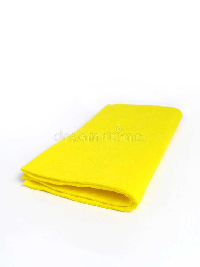 Gelber Lappen stockfoto