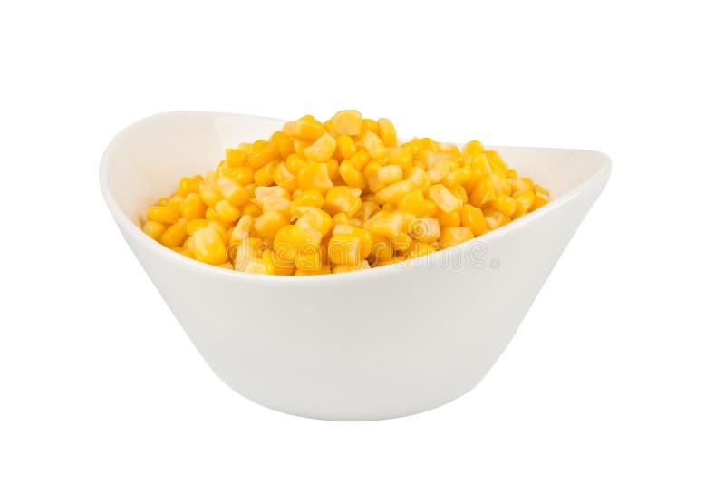 Gelber Mais in einer Schüssel stockfotografie