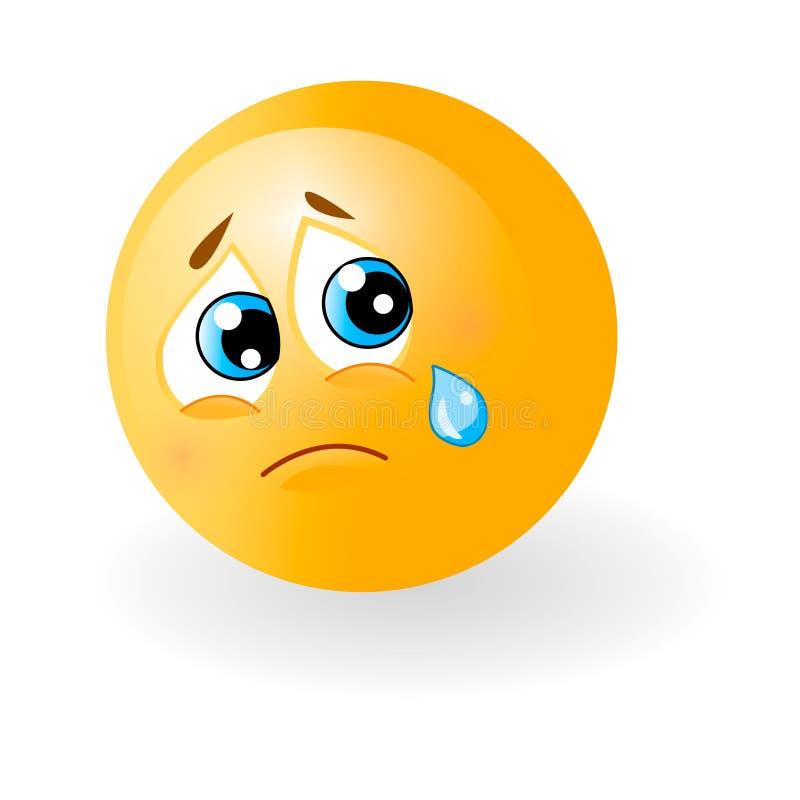 Gelber Netter Trauriger Emoticon Mit Riss Smiley, Gesicht Mit Gefühlen  Gesichtsausdruck, Stimmung Realistisches Emoji 3d Lustig Vektor Abbildung -  Illustration von gelber, emoticon: 132957441