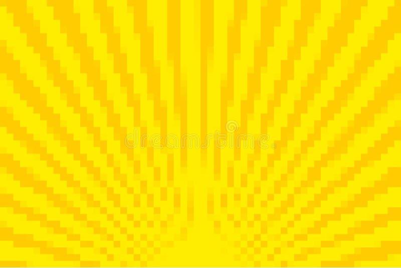 Gelber Pixel-Hintergrund stock abbildung