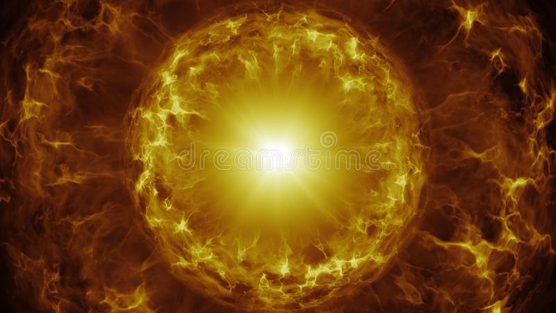 Gelber Plasmabereich mit Energiegebühren stock abbildung