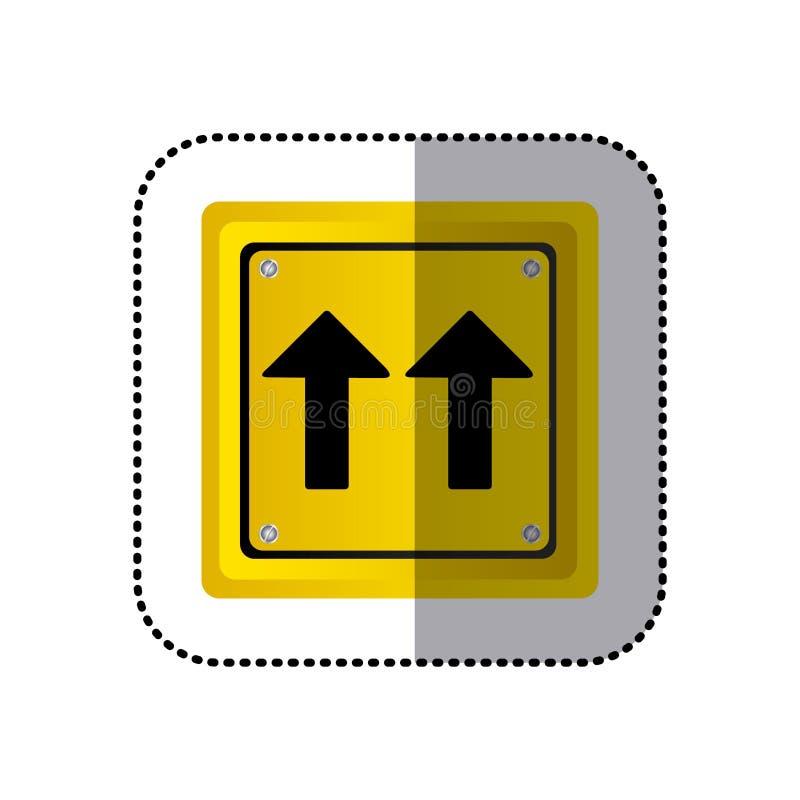 Gelber Quadratischer Formrahmen Des Aufklebers Das Gleiche ...