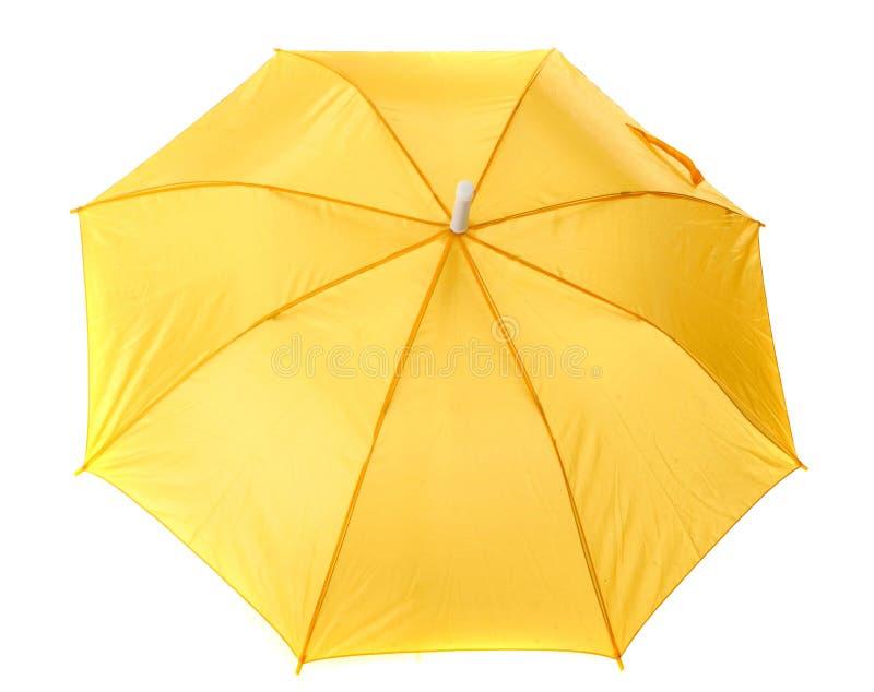 Gelber Regenschirm stockbilder