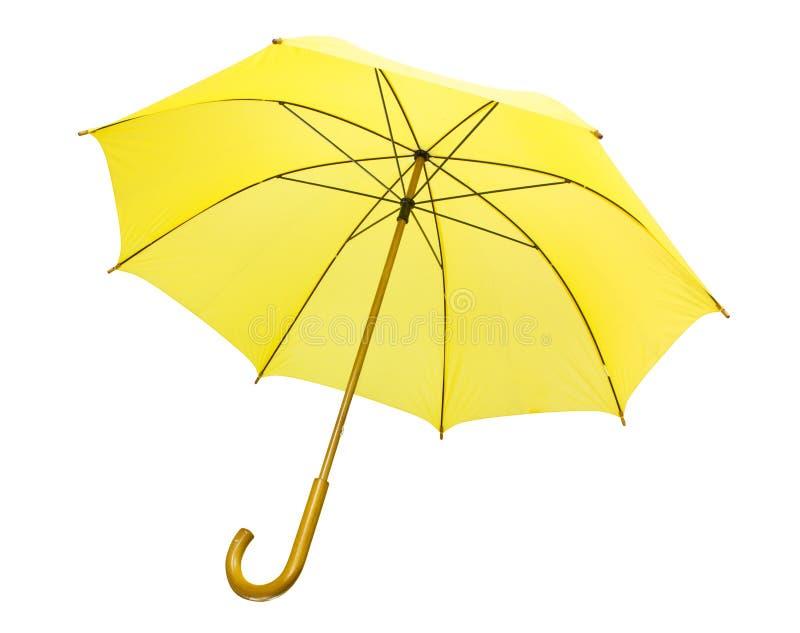 Gelber Regenschirm getrennt lizenzfreie stockfotografie