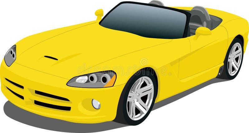 Gelber Roadster stock abbildung