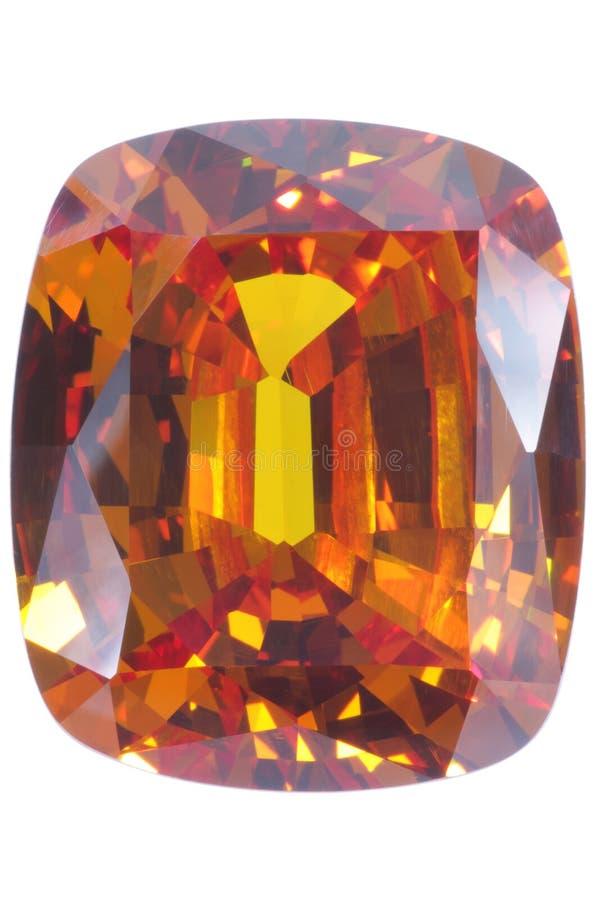 Gelber Saphir stockbild