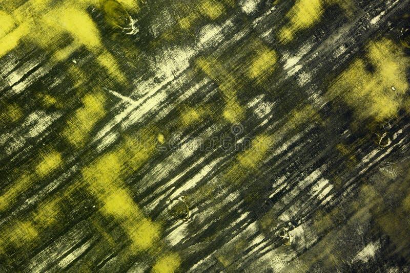 Gelber Schmutzschreibtisch mit großen geklärten Stellen masern - netten abstrakten Fotohintergrund vektor abbildung