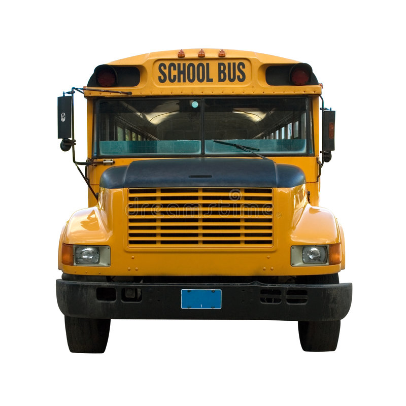 Gelber Schulbus stockbild