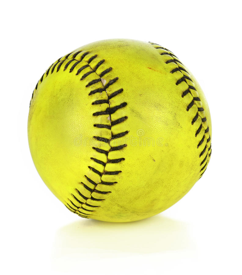 Gelber Softball stockfotografie