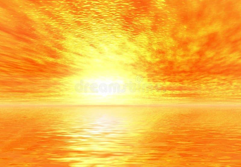 Gelber Sonnenaufgang