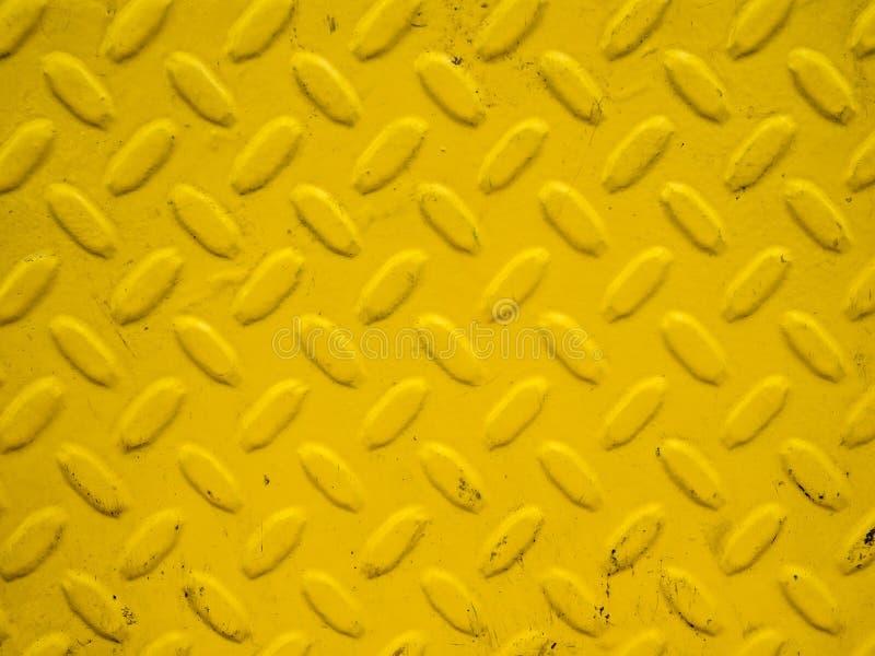 Gelber Stahlhintergrund stockfotos