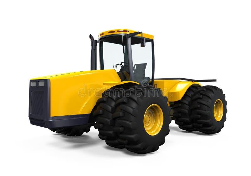 Gelber Traktor lokalisiert lizenzfreie abbildung