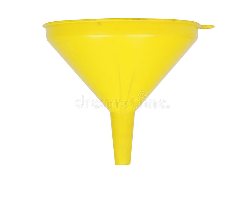 Gelber Trichter stockfotografie