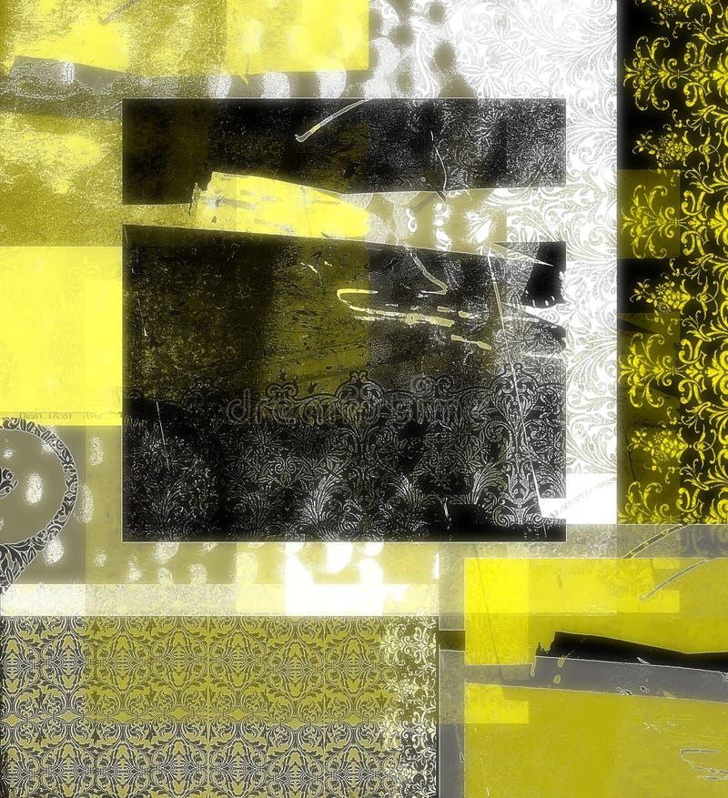 Gelber und schwarzer Auszug lizenzfreie abbildung