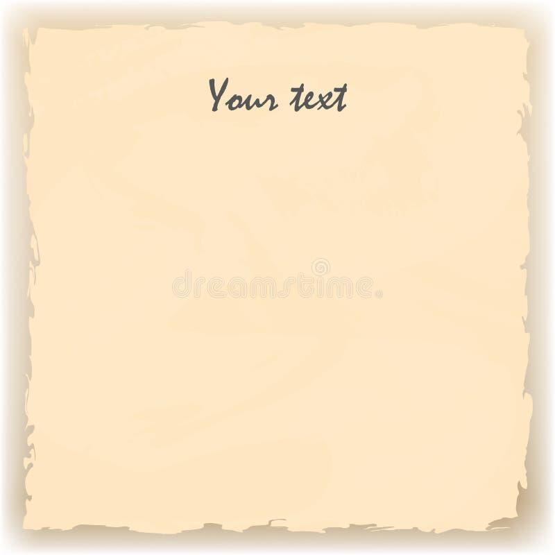 Gelbes altes zerlumptes Papier vektor abbildung