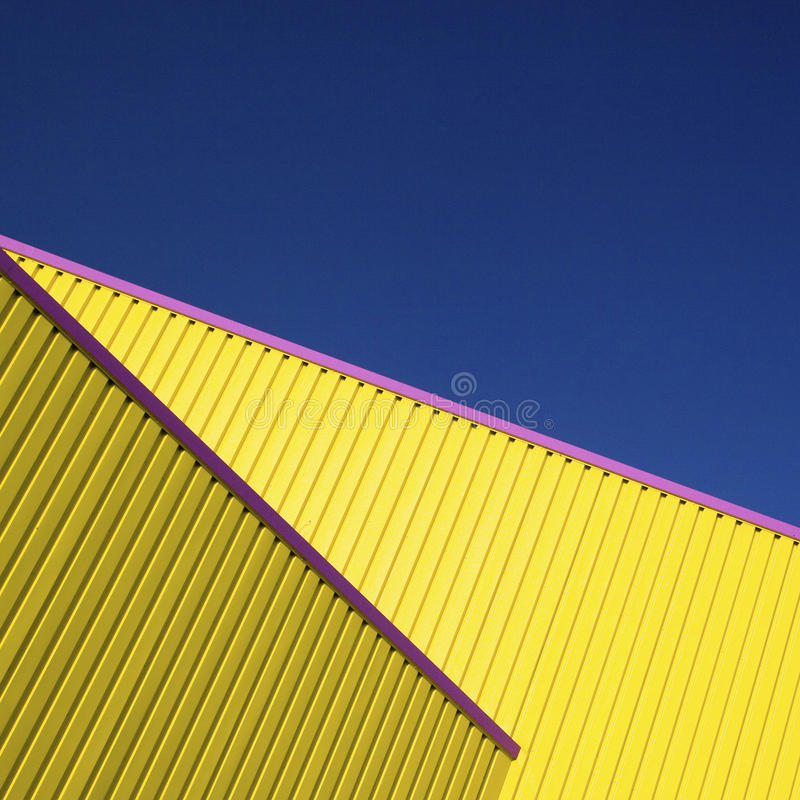 Gelbes Architektursonderkommando stockfoto