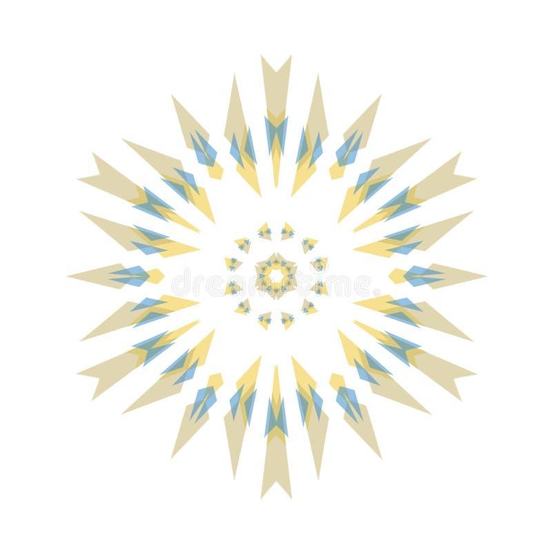 Gelbes Blau Browns und Goldkaleidoskop kopieren Hintergrund stockfoto