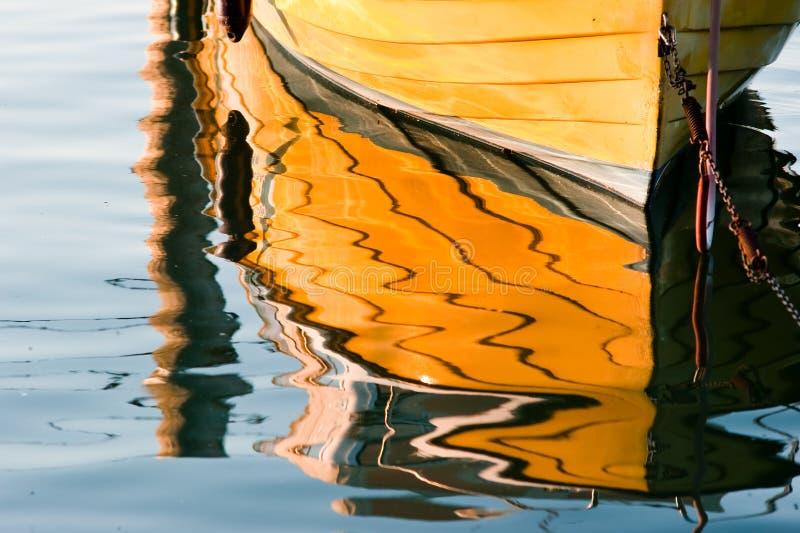 Gelbes Bootsdetail lizenzfreies stockbild