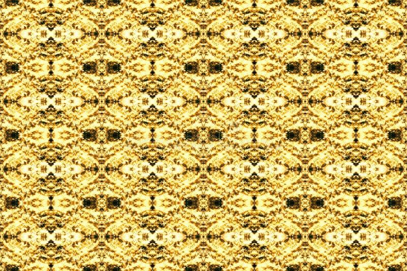 Gelbes braunes dekoratives Muster der nahtlosen Beschaffenheit des Zusammenfassungshintergrundes stockbilder