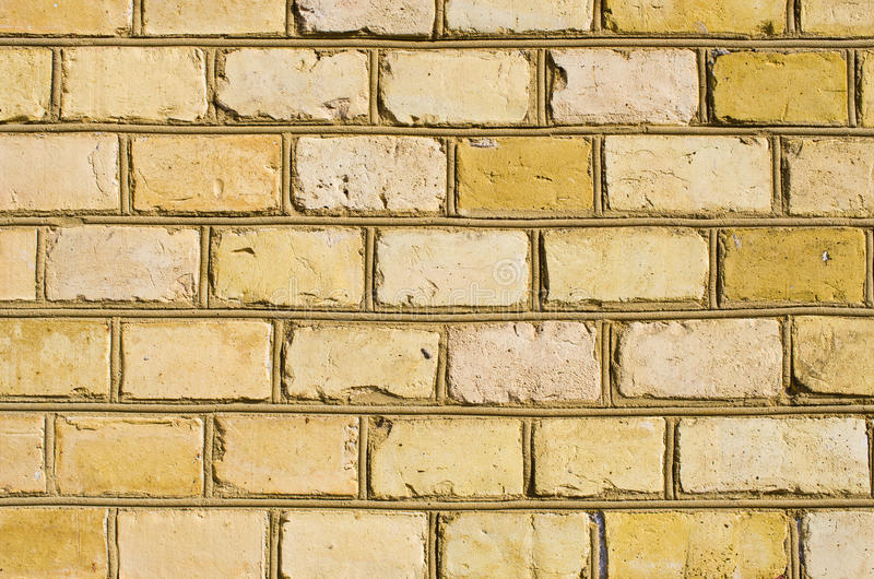 Gelbes brickwall lizenzfreies stockbild
