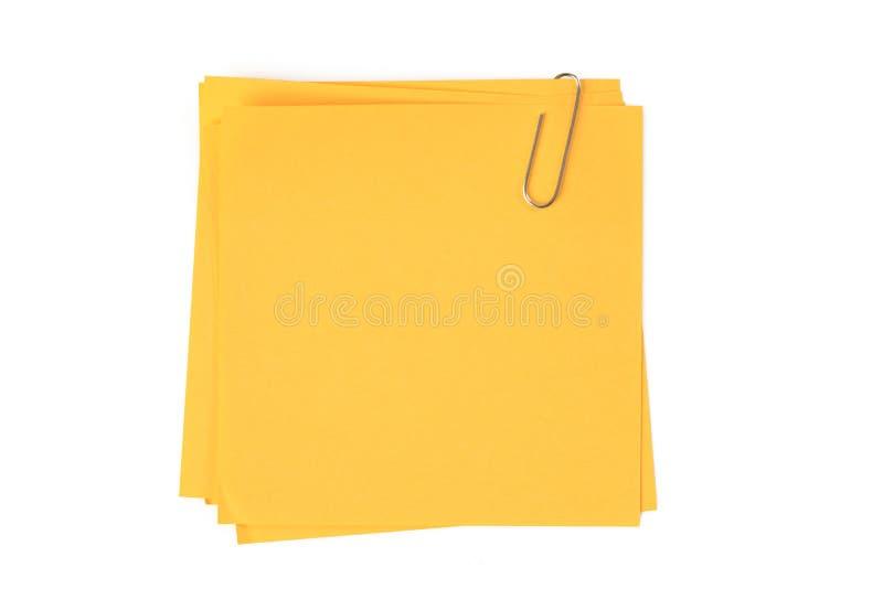 Gelbes Briefpapier stockfoto