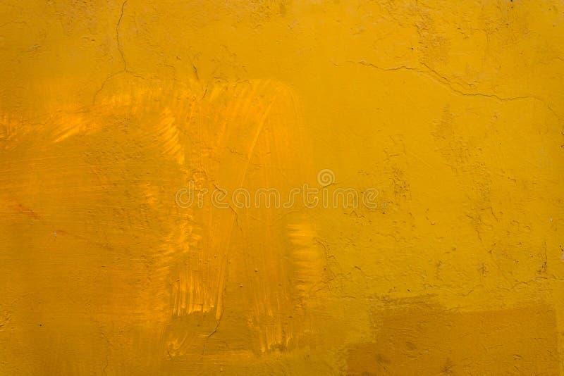 Gelbes Brown-Wand-Zusammenfassungs-Hintergrund-mexikanisches Geb?ude Oaxaca Mexiko stockbild