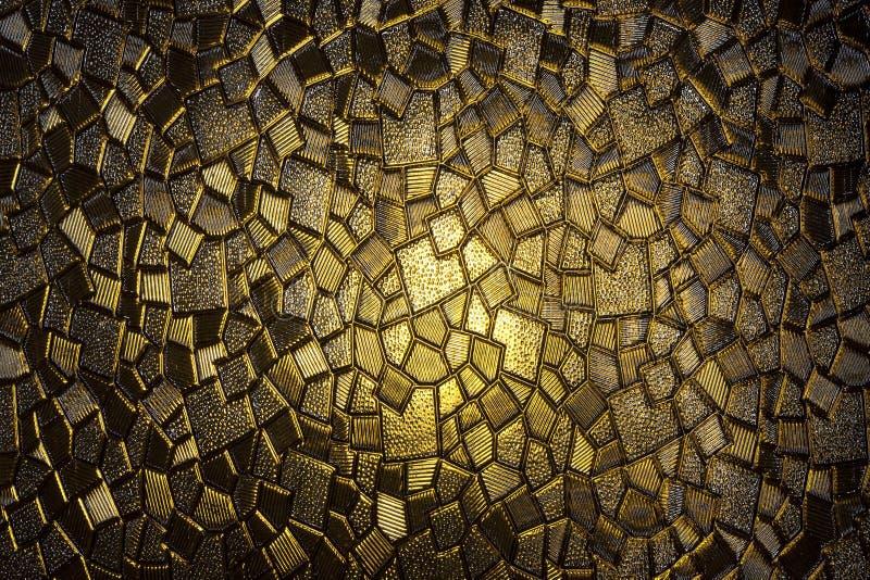 Gelbes Buntglas der Weinlese lizenzfreie stockfotografie