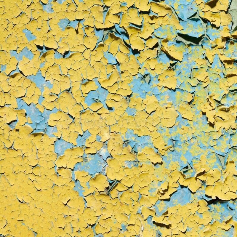 Gelbes doncrete gemalte alte Wandbeschaffenheit stockfotografie