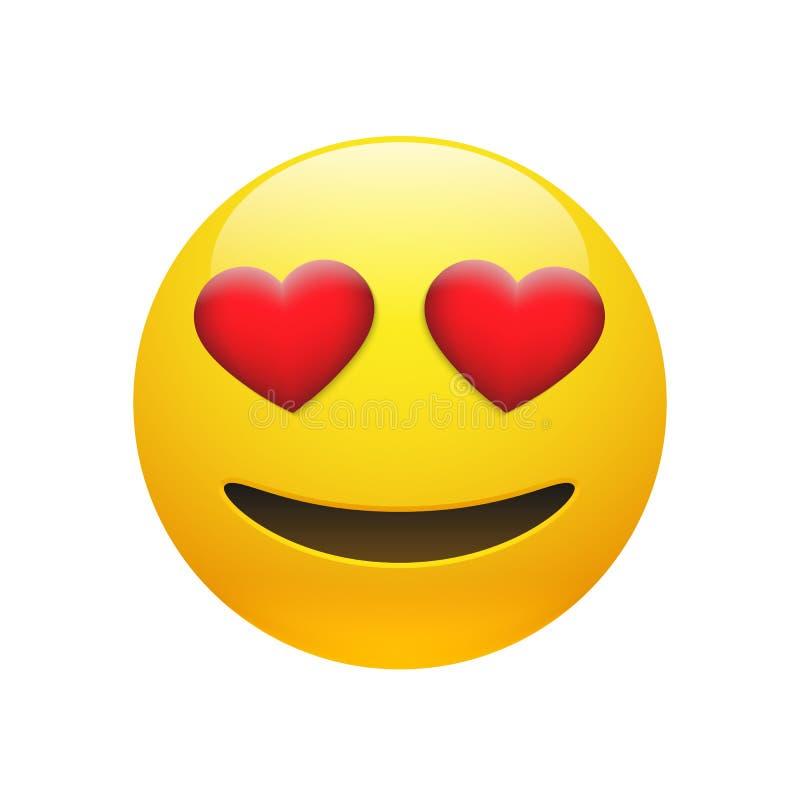 Gelbes dummes smileygesicht Vektor Emoji lizenzfreie abbildung